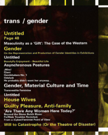 Trans/ Gender magazine, Autumn 2003