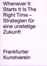 Whenever It Starts It is The Right Time -  Strategien für eine unstetige Zukunft