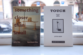 ARTWORKS BY JYTTE HØY: SOMETHING CLOSER THAN SMALL + TOUCH, VARIOUS SMALL OBJECTS