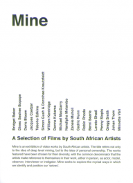MINE Short Guide A Selection of Films by South African Artists